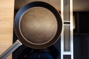 Cast Iron Pan on a Glass stove top.