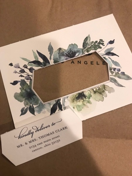 Congratulations Gift Bag - cut the sample address out