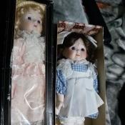 Identifying Porcelain Dolls - dolls in boxes