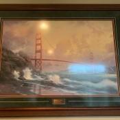 Value of a Thomas Kinkade Print - Golden Gate bridge