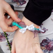 Lace Wristband - gift as a friendship bracelet