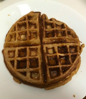Sweet Potato Waffle on plate