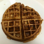 Sweet Potato Waffle on plate