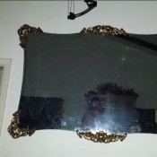 Age and Value of a Bassett Mirror - frameless mirror with decorative  floral wood or metal corners and centers