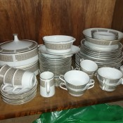 Value of Noritake China - stacks of dishes