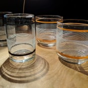 Identifying Vintage Drinking Glasses - glasses with horizontal lines