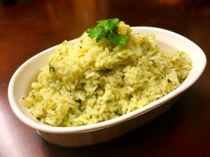 Ginger Garlic Cilantro Rice in bowl