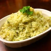 Ginger Garlic Cilantro Rice in bowl