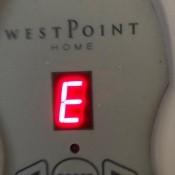WestPoint Home Electric Blanket Error Codes