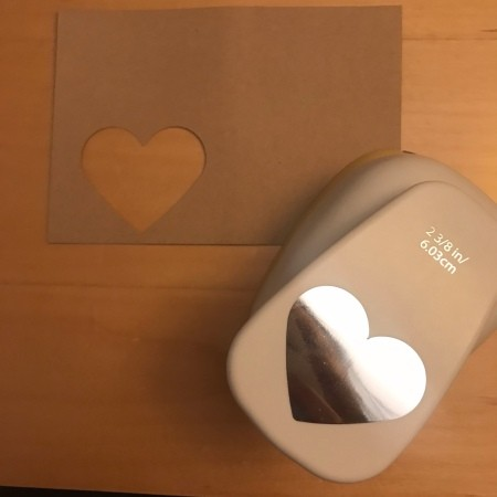 Heart Picture Frame Magnet - punch or cut a heart shape in the paper for the frame