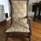 Value of a Victorian Rocker - upholstered wooden antique rocking chair