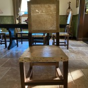 Identifying Rawhide Covered Chairs - wooden armless chair with what appears to be rawhide seat and back