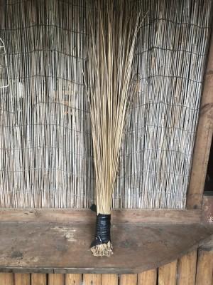 Making A Coconut Leaf Broom - finished broom