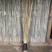 Making A Coconut Leaf Broom - finished broom