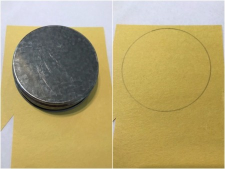 Lion Spoon Puppet - trace a circle using a cap onto construction paper