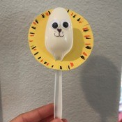 Lion Spoon Puppet