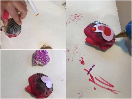 Wall Shell Decoration for Valentine's Day - decorate your shell with markers