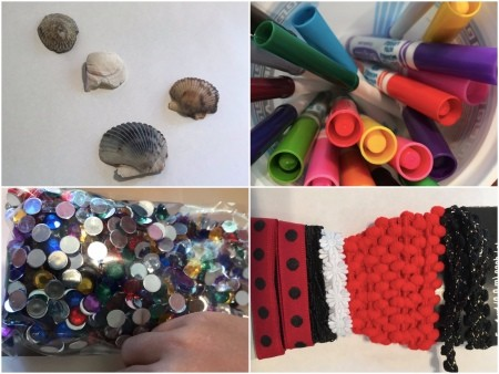 Wall Shell Decoration for Valentine's Day - supplies