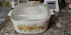 Value of a Vintage CorningWare Covered Dish - covered casserole dish