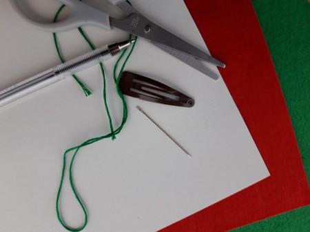 Felt Heart Hair Clip - supplies