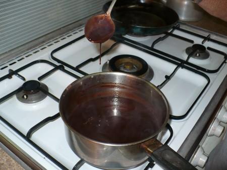 finished Chocolate Sauce