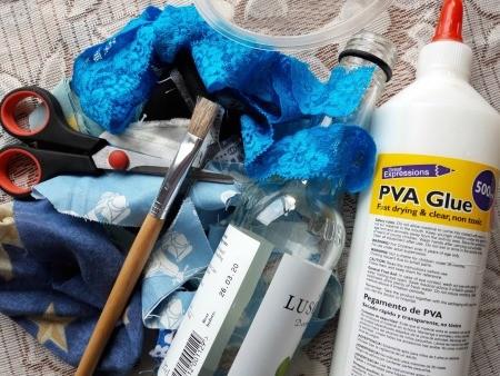 Fabric Covered Specimen or Bud Vase - supplies