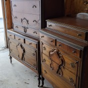 Identifying an Antique Dresser  - three antique dressers