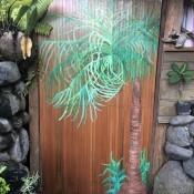 Custom Bathroom Door Design - painted bathroom door