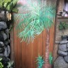 Custom Bathroom Door Design - painted bathroom door