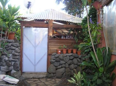 Custom Bathroom Door Design - original door