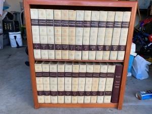 Value of a Set of Encyclopedia Britannica - books on a bookshelf