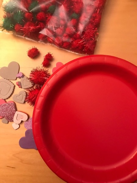 Valentine's Day Hanging Picture Frame - supplies
