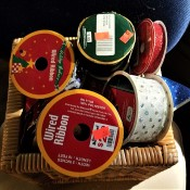 Reducing the Bulk of Craft Ribbon - rolls of ribbon