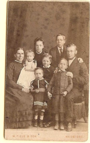 old photo of grandmother's family
