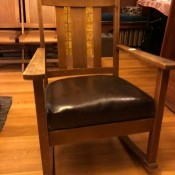 Value of a Murphy #711 Rocking Chair - rocking chair with brown upholstered seat