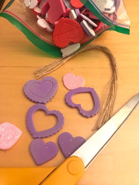 Valentine's Day Ornaments - supplies