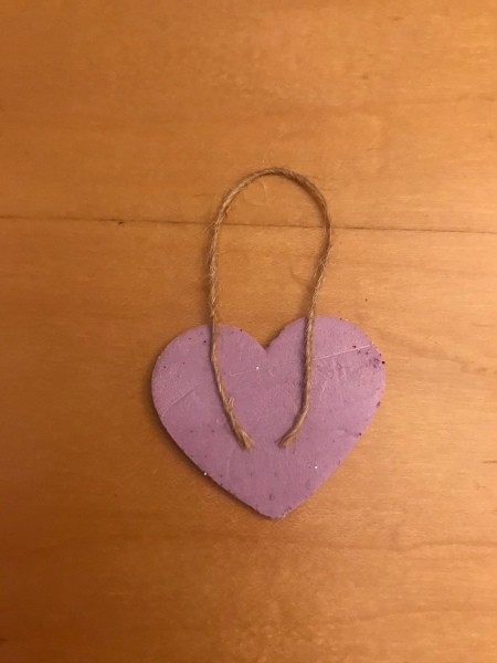 Valentine's Day Ornaments  - place twine hanger on one sticker