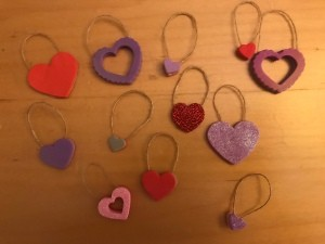 Valentine's Day Ornaments - several ornaments