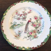 Information on Aynsley China Pattern 5032 - plate with birds and flowering shrubs