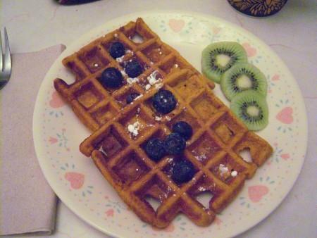 Pumpkin Waffle on plate