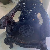 Value of an Old Carved Wooden Chinese Chair - ornately carved dark wooden chair
