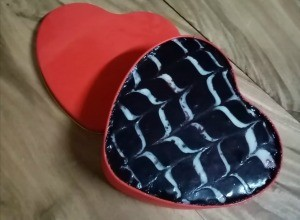 baked & frosted Heart Shaped Tin Cake