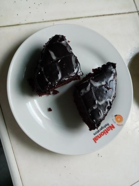 Red Velvet Cake on plate