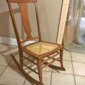 Value of a Conant Ball Co. Rocking Chair - cane seated rocking chair