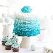 Blue Ombre Smash Cake