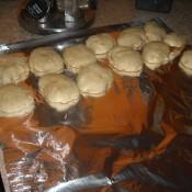 Banana Cookies on tray