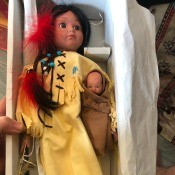 Value of a Seymour Mann Doll - Native American style doll in a box