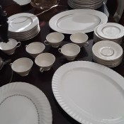 Value of Castleton China Severn Pattern - china on a dining table