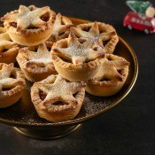 Individual pies with a star on the top as a crust.