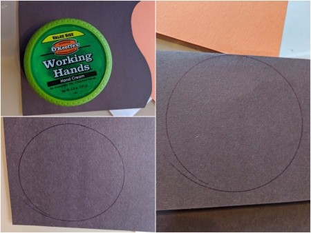 Penguin Valentine's Card or Crown - trace a circle on construction paper, fold paper in half